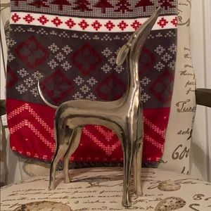 Pottery Barn Metal Greyhound Statue